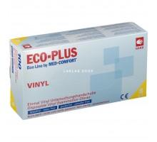ECO-PLUS перчатки винил, S, неопудренные, прозрачные, 50 пар