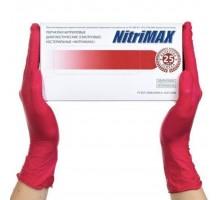 NitriMAX перчатки нитрил, 4 г, M, красные, 50 пар