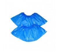 Бахилы полиэтилен, особо прочные, голубые, 100 шт