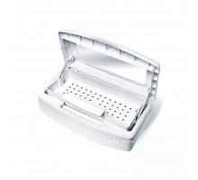 Бокс (контейнер) для стерилизации белый с окошком на 1 л