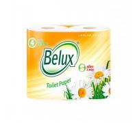 """Бумага туалетная """"Belux"""" 2 слоя 4 шт"""