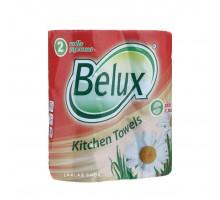"""Полотенца Бумажные 2 слоя """"Belux"""" 2 рулона"""