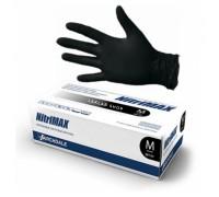 NitriMAX перчатки нитрил, 5 г, S, черные, 50 пар