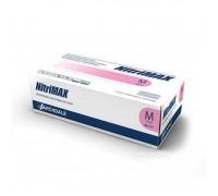NitriMAX перчатки нитрил, 4 г, M, розовые, 50 пар