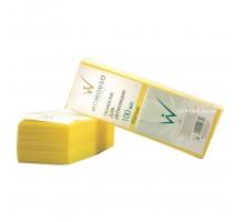 Полоски для депиляции 7х20 см, ItalWax, желтые, 100 шт
