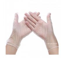 Перчатки винил, S, прозрачные, неопудренные, 50 пар