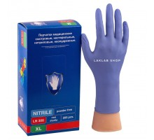 SAFE&CARE перчатки нитрил, 3,5 г, M, фиолетовые, LN308, 100 пар