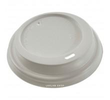 Крышка для стакана 80 мм с открытым питейником, белая, 100 шт
